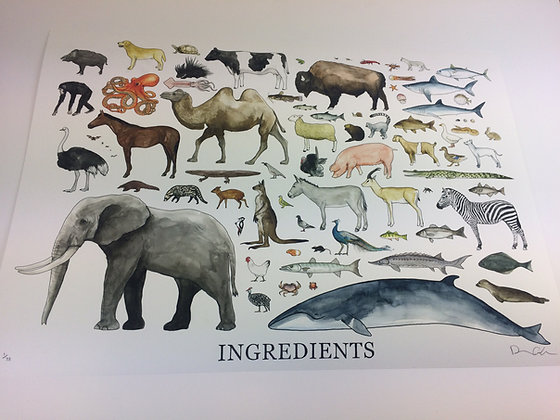 Ingredients - Limited edition giclee print