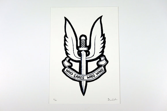 SAS Who Cares Who Wins - Limited edition giclee print