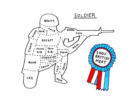 100% Soldier Meat - Limited edition giclee print