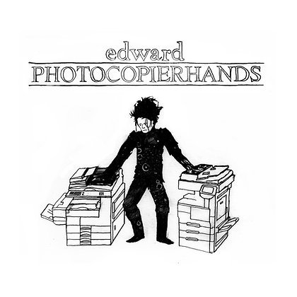 Edward Photocopierhands - Limited edition giclee print
