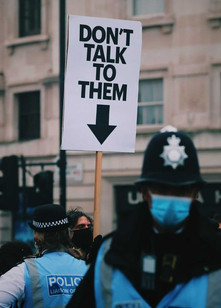 POLICE PROTEST SIGN