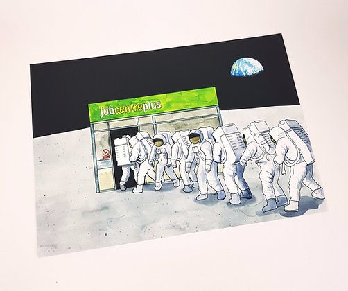 Job Centre Plus Moon - Limited edition giclee print