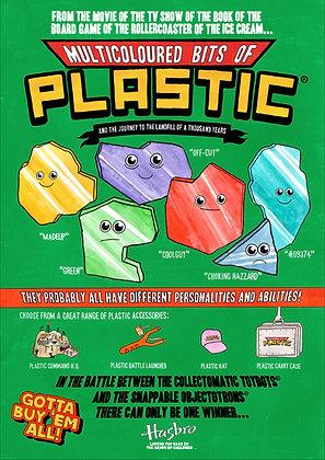 Multicoloured Bits of Plastic - Poster