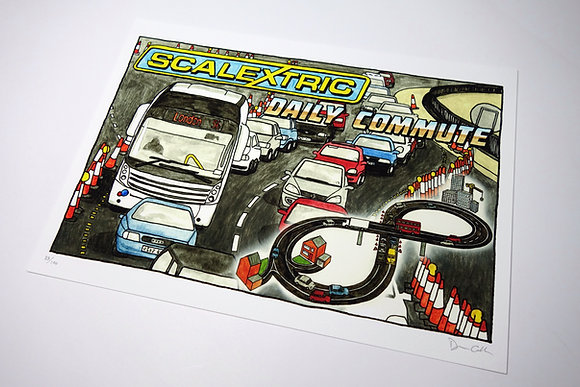Scalextric: Daily Commute - Limited edition giclee print