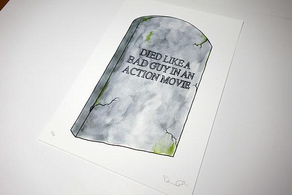My Gravestone - Limited edition giclee print