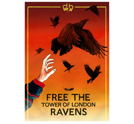Free the Tower of London Ravens - Limited edition giclee print