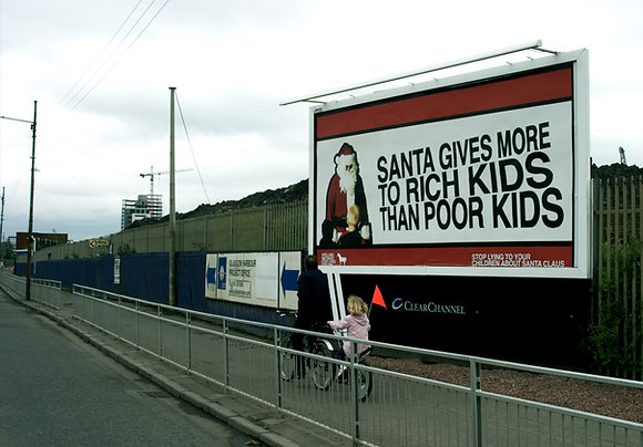 Santa Gives More to Rich Kids Than Poor Kids - Limited edition print