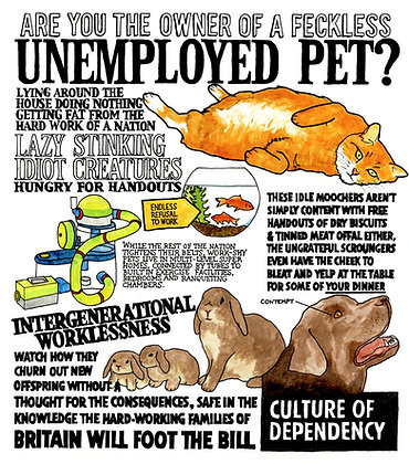 Unemployed Pets - Limited edition giclee print