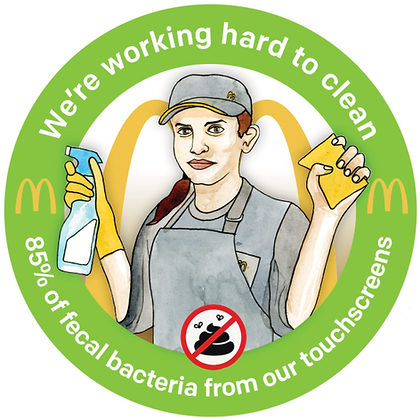 McDonalds Touchscreen Stickers (Pack of 10)