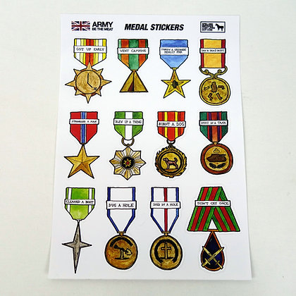 Army: Be The Meat - Medal Stickers