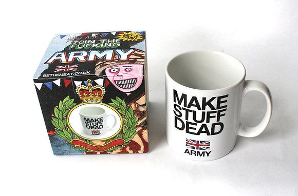MAKE STUFF DEAD / ARMY: BE THE MEAT Mug + Box
