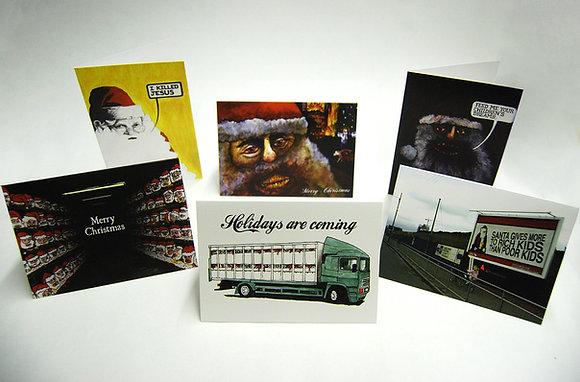 Anti-Santa Christmas Cards w/ Envelopes