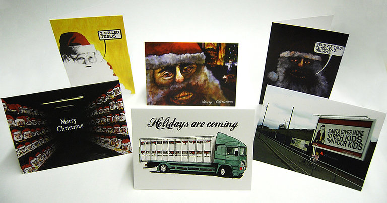 Anti-Santa Christmas Cards w/ Envelopes