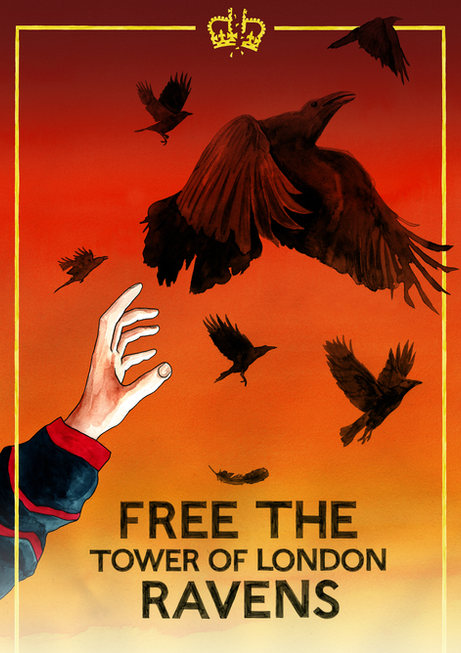 Free the Tower of London Ravens (2020) - Darren Cullen