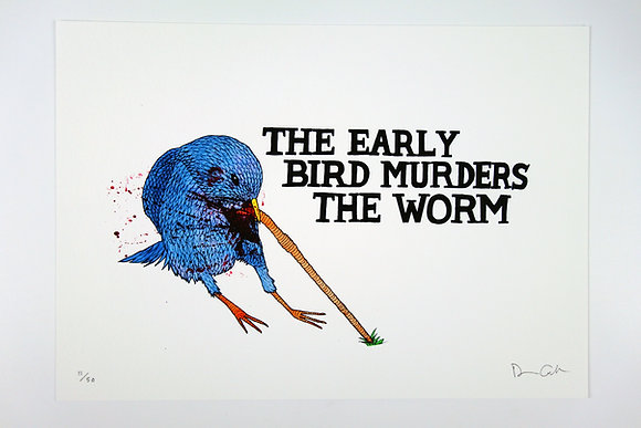 The Early Bird Murders The Worm - Limited edition giclee print