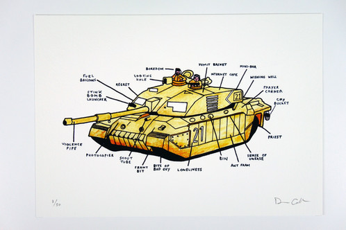 Tank Diagram Limited Edition Giclee Print Spelling Mistakes Cost