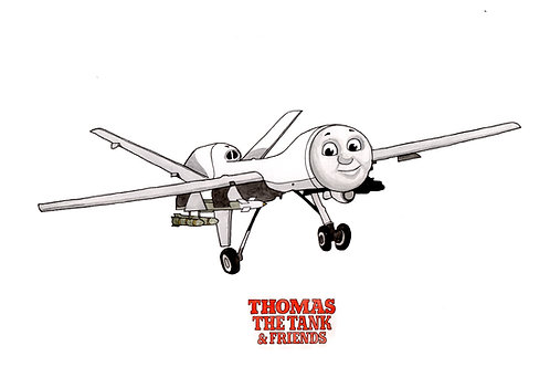 Derek the Drone - Thomas the Tank - Limited edition giclee print