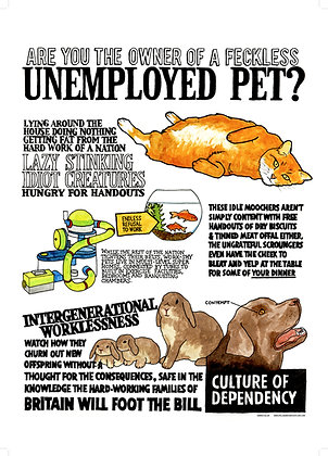 Unemployed Pets A2 Poster