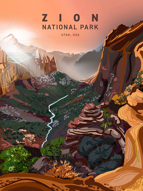 Zion National Park Print/Postcard