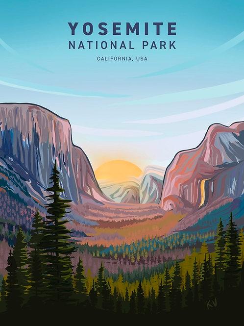 Yosemite National Park Print/Postcard
