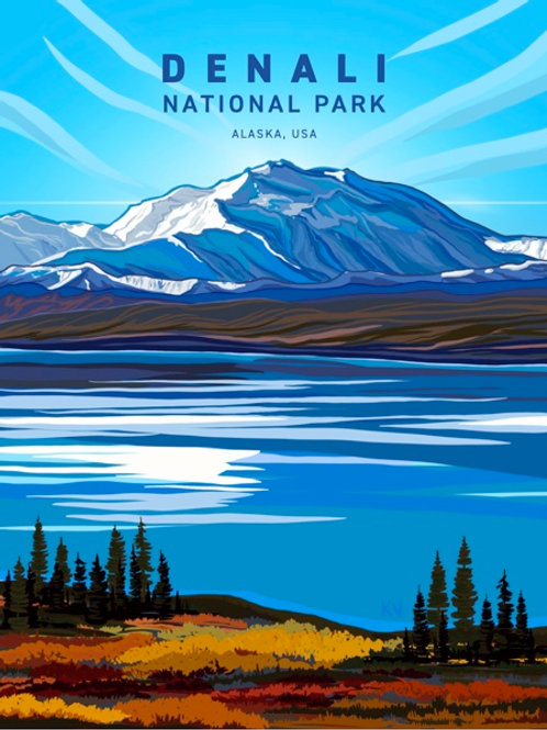 Denali National Park Print/Postcard