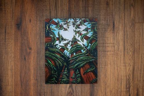 Heart of the West Coast 8x10 Wood Print