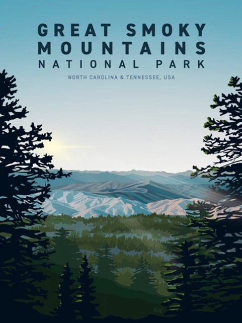 Great Smoky Mountains Print/Postcard