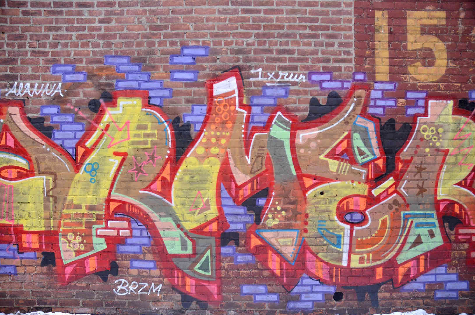 Graffiti on Brick