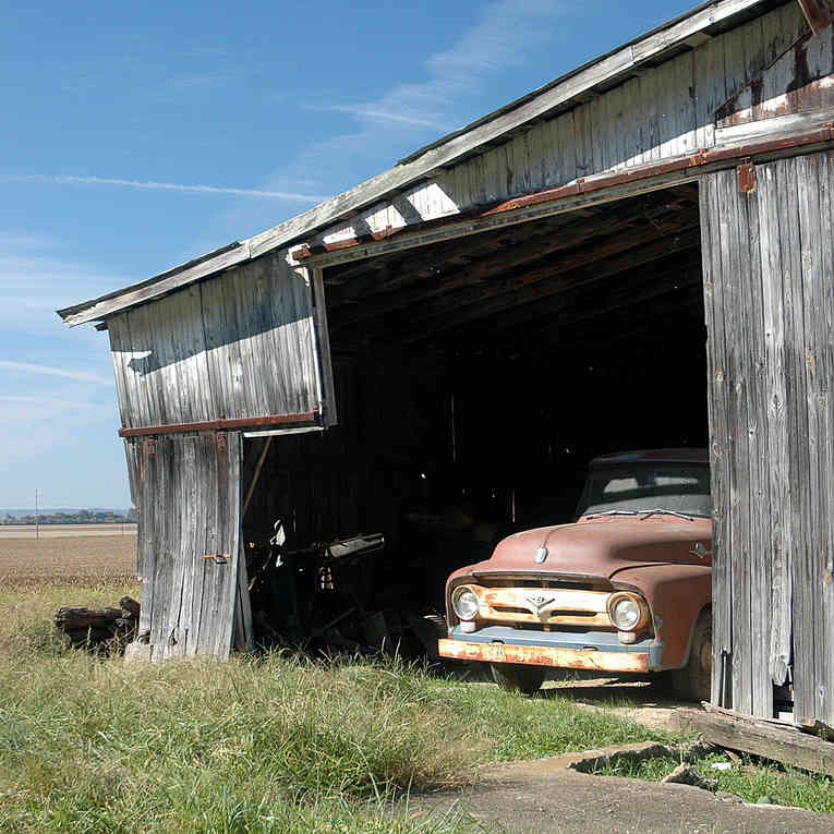 Ford in Barn