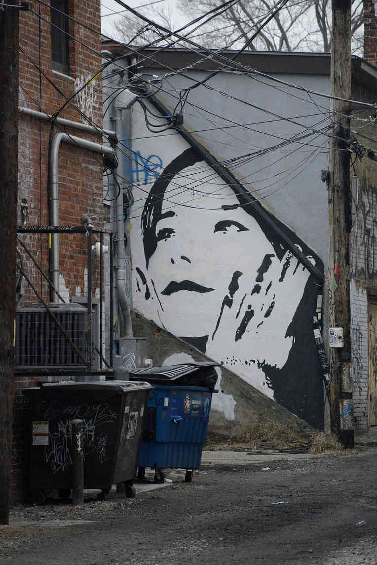 face in the alley