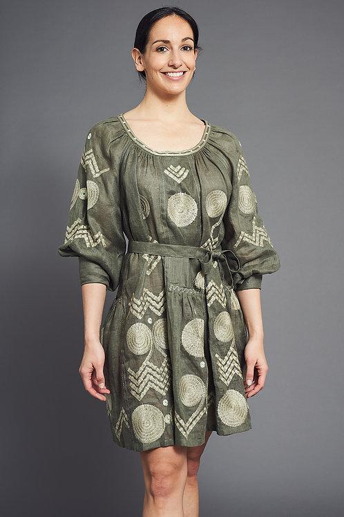 Gaia Short Dress in Green - My Sleeping Gypsy
