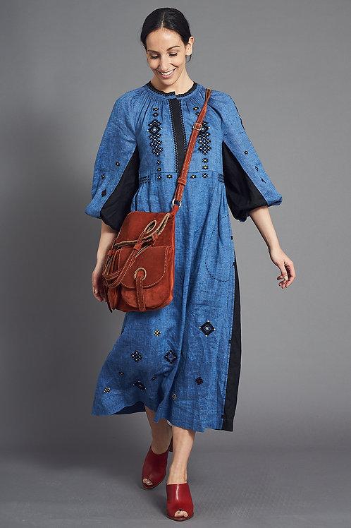Gaia Long Dress in Denim Blue - My Sleeping Gypsy