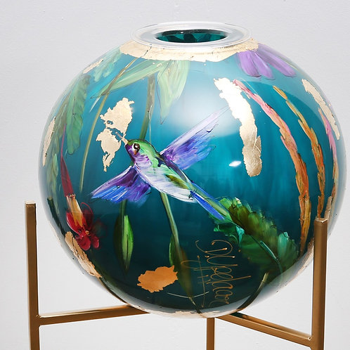 Vase CraftZZ- Handpainted in Netherlands - Color Turquoise