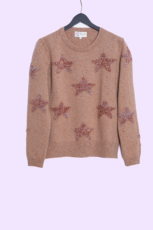Sweater Glittering Star - Maison Common - Color Camel