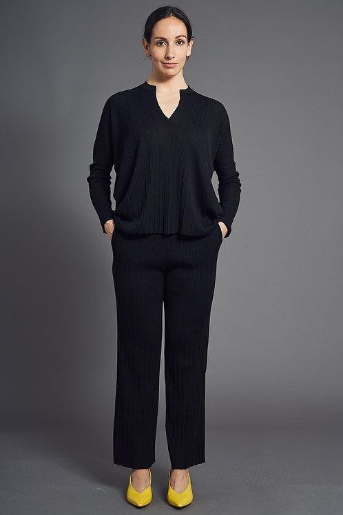 Pleat Tunic - Sminfinity - Color Black