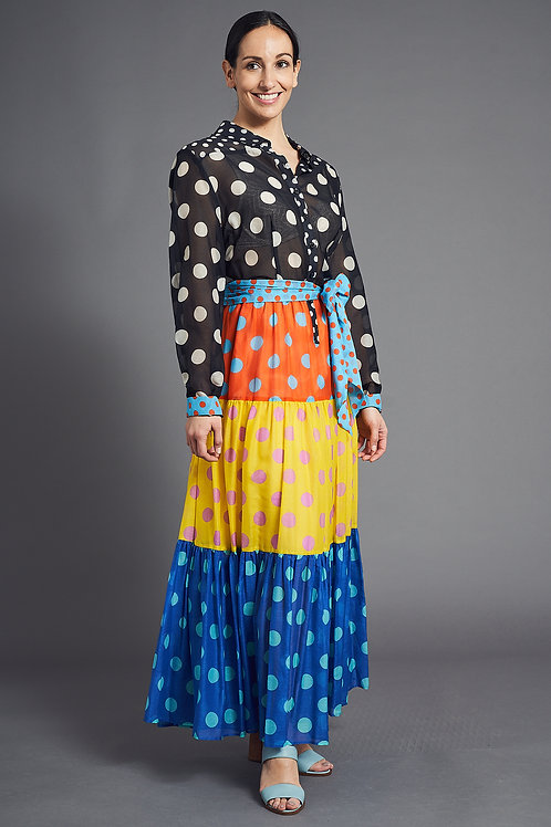 Bright and  Colorful Boho Dress - Maison Common
