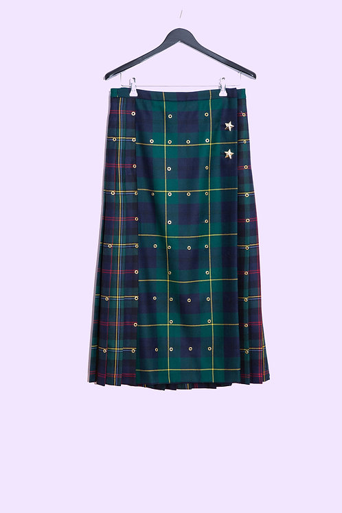 Checkered Skirt - Maison Common