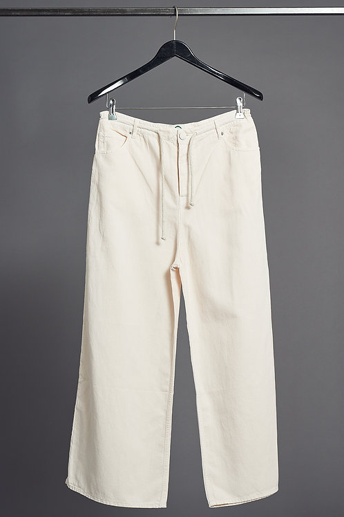 Oversize Pants in Color Nude- Happy Haus