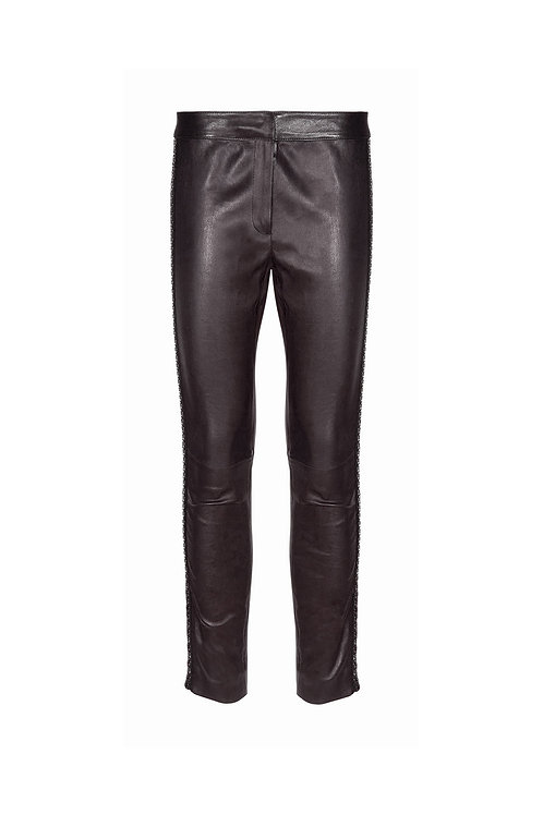 Sexy and Rocky Leather Pants - Maison Common - Color Black
