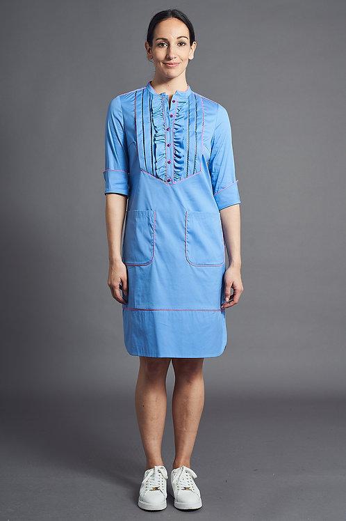 Blue Blouse Dress - Maison Common