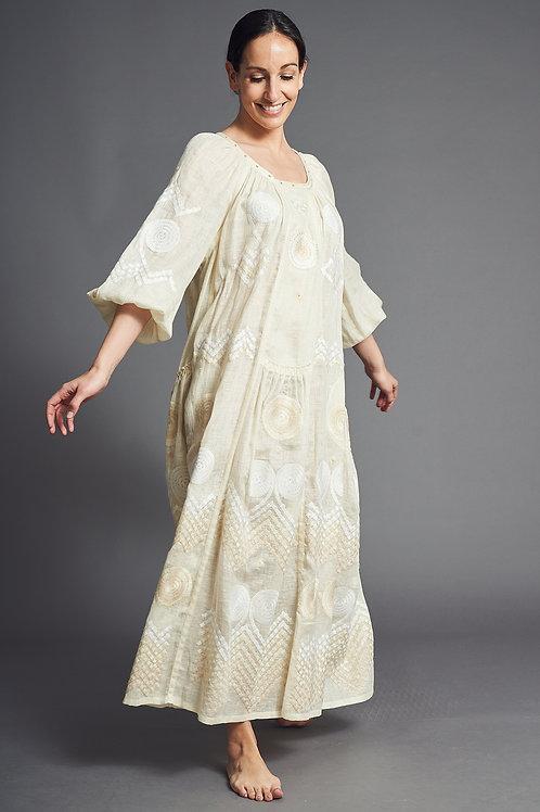 Gaia Long Dress in Ivory - My Sleeping Gypsy