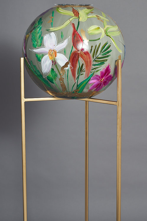 Vase CraftZZ- Handpainted in Netherlands - Color Grey Pale