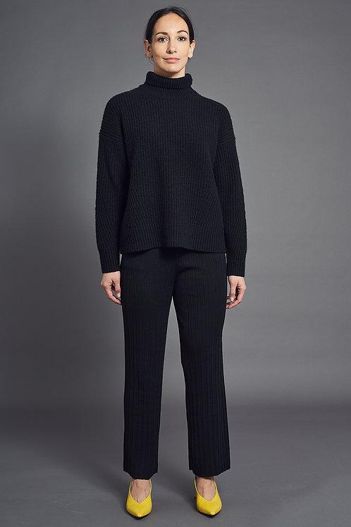 Pleat Pants - Sminfinity - Color Black