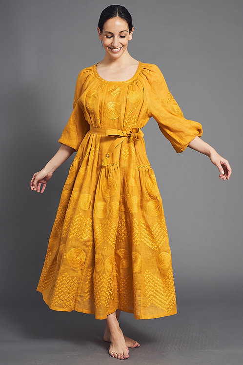 Gaia Long Dress in Yellow - My Sleeping Gypsy