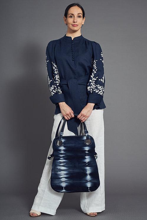 Luxury Embroidered Linen Blouse - Maison Common