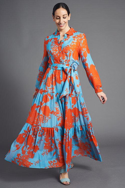 Boho Dress with Floral Print - Maison Common
