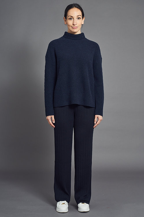 Pleat Pants - Sminfinity - Color Midnight Blue