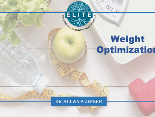 Dr. Plumser's Diet Education Series: What is Weight Optimization?