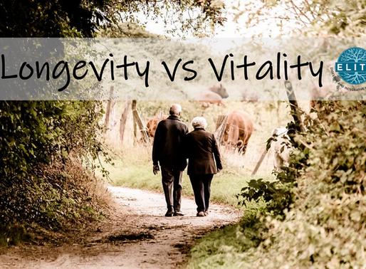 Longevity vs Vitality