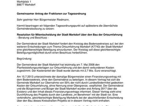 Markdorf soll Mitbestimmen!